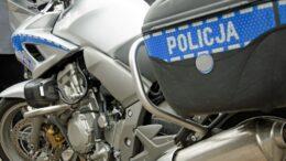 motocykl policyjny należący do drogówki