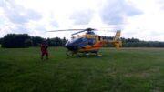 Lotnicze Pogotowie Ratunkowe lądujące w Tarłowie